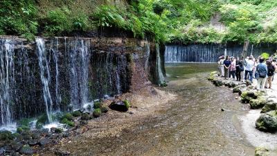 1泊2日ツアー(3)-軽井沢白糸の滝(長野)から奥軽井沢温泉のホテル(群馬)へー