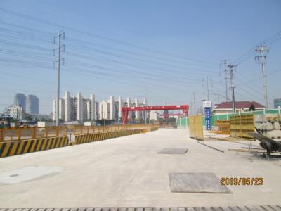 上海の真如水産市場跡・高尚領域・再開発・地下鉄14号線工事中