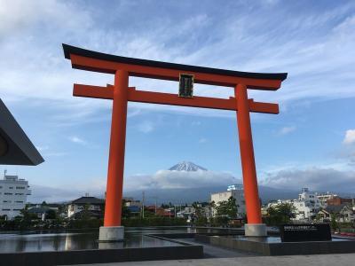 男一人で浅間大社に行き、富士宮やきそばを食べ富士山を拝んできた