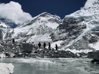 エベレスト街道274㌔巡礼の道を歩き登った記録 14.ロブチェ4930m~エベレスト・ベース・キャンプ5364m神々の座