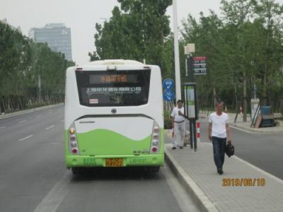 上海の浦東50路バス・ディズニーから川沙故鎮