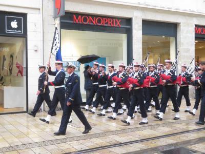 トゥールで遭遇フランス海軍軍楽隊♪Bagad de Lann-Bihoué♪2019年5月フランス ロワール地域他8泊10日(個人旅行)74