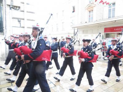 目の前で見たフランス海軍軍楽隊♪Bagad de Lann-Bihoué♪2019年5月 フランス ロワール地域他8泊10日(個人旅行)75
