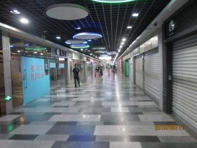 上海の遵義路・地下連絡通路・一部完成