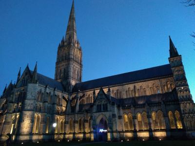 1月のイングランド1人旅 ソールズベリー大聖堂