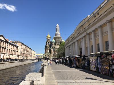 2019年5月 還暦夫婦ロシアへ行く 1日め サンクトペテルブルグ到着まで