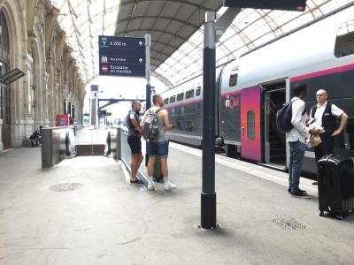 フランスひとり旅3日目前半~続き~Nice villeからリオン行きTGVに乗る