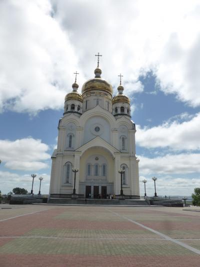 5歳娘を連れてハバロフスク4日間の旅3-晴れると青い!アムール川で貝探し