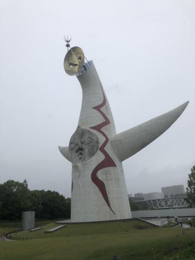 太陽の塔、キッズニア甲子園を孫たちと