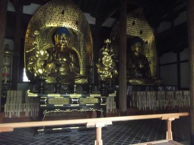 九品仏は独特な伽藍配置の寺院(浄真寺)で,三仏堂に九体のそれぞれ異なる阿弥陀如来像があり,興味深かった