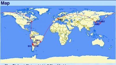 3度目の皆既日食は世界一周ルートで南米チリ(1)54時間かけてチリのラ・セレナへの移動&全行程概要編