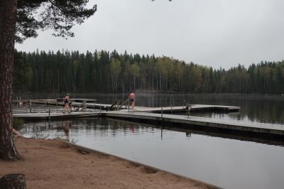 5年ぶりにヘルシンキへ4の2 森と湖のサウナへ編