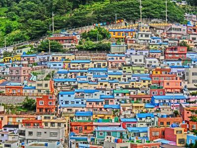 弾丸旅行!初めての韓国!!カラフルな街並みを求め「甘川文化村」@釜山へ