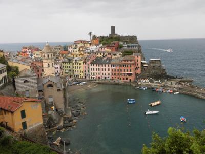 イタリア、チンクエテツレ観光3 リヴィエラ海岸ヴェルナッツァ・マナローラ