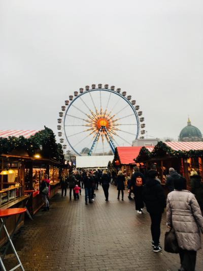 2018年~2019年 ドイツ冬の旅⑤ ベルリンその2 赤の市庁舎のクリスマスマーケット