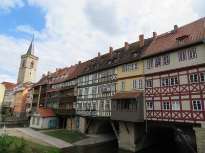 心の安らぎ旅行(2019年 5月 Erfurt エアフルトPart5 Kraemerbruecke  クレーマー橋を見る♪)