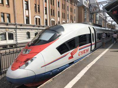 2019年5月 還暦夫婦ロシアへ行く 6日め サプサン号でモスクワへGO!