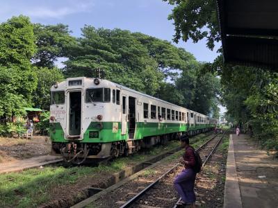 初ミャンマー 0~1日目 ヤンゴン郊外路線に乗る