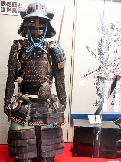 信州令和19 松本城f 内部(展示史料ずらり) ☆棟札・鯱・甲冑・鉄砲・屏風など