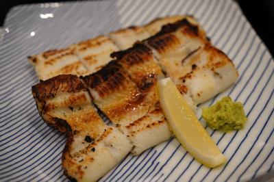 20190706-1 豊洲 高はしさん、しらすおろし茗荷竹とか、すずきとかいわしとか、あなご白焼、すずき魚汁とか