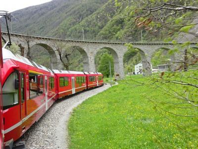 2019 スイス、イタリア鉄道紀行(2)絶景の連続 レーテッシュ鉄道アルブラ線、ベルニナ線を行く
