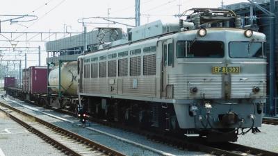 2019梅雨の合間の晴れた日に銀色機関車EF81-303を見に行こう!