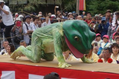 法隆寺から吉野山まで初夏の旅(二日目完)~吉野山の蛙飛び行事は天罰が下った大青蛙が蔵王堂でぴょこたんぴょこたん。授戒で無事、人間に戻ります~