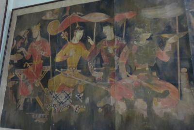 2019春、ウズベキスタン等の旅(17/52):4月25日(3):ペンジケント(3):ペンジケント遺跡、展示館、壁画