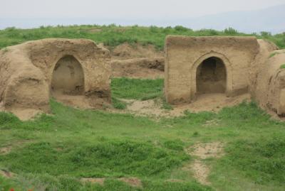 2019春、ウズベキスタン等の旅(19/52):4月25日(5):ペンジケント(5):ペンジケント遺跡、遺跡散策