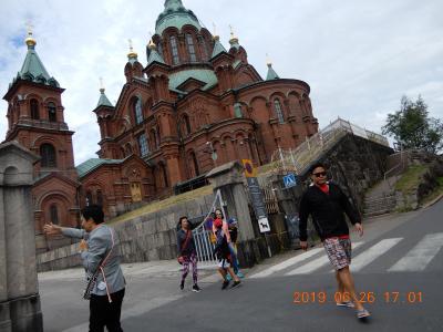 {生神女就寝大聖堂} 外観 フィンランド・ヘルシンキ  Uspenskin katedraali