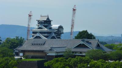 初九州新幹線乗車で熊本市内1泊2日旅【熊本市役所14F展望ロビーから見た「熊本城」など編】