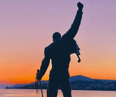 フレディを 追いかけてー♪♪♪♪ スイス モントルー レマン湖まで やってきた!!