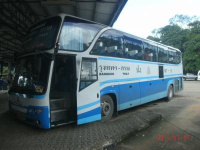 観光旅行ではありません(ioi)トラート滞在~バスでドンムアン。