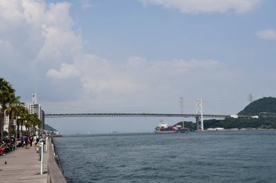 関門海峡を望む