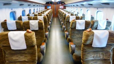 初九州新幹線乗車で熊本市内1泊2日旅【N700系新幹線つばめ(熊本~博多)乗車編】