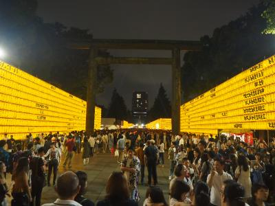 雨の日曜日 靖国神社みたままつり 2019