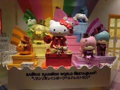 2018年3月関東旅行その14 ぐでたまショップで買い物とレインボーワールドレストランで食事