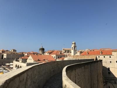 初クロアチアその2 ドブロブニク城壁歩き