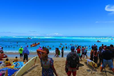 ANA特典HONUのファーストクラスで行くハワイ5日間~モアナサーフライダーでまったり過ごす2日目♪