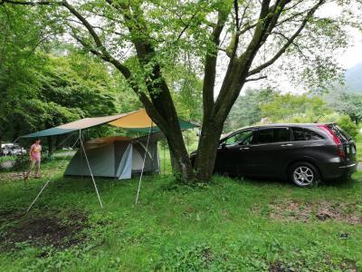 群馬・高山村 初のテント泊キャンプ 雨の2泊3日
