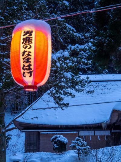 秋田冬旅01 : 大雪警報発令で行きの飛行機欠航…( iдi ) ドタバタスタートで男鹿に行く