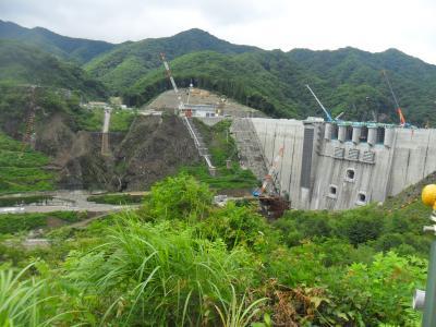 八ッ場ダム見学のため川原湯温泉に宿泊しました。