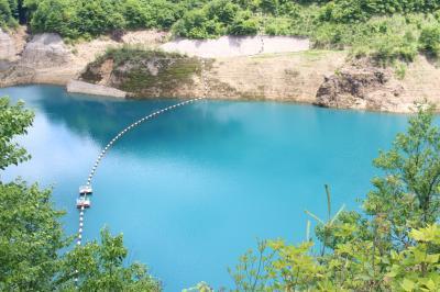 四万ブルー?四万温泉に行ってみました。