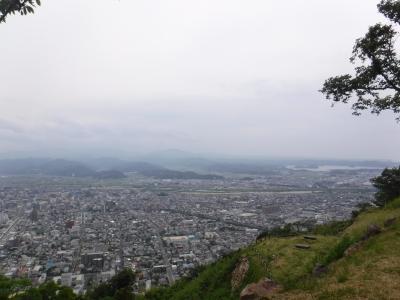百名城の鳥取城跡へ。久松山頂上まで登山?お散歩?