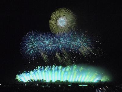 息をのむ4大花火師の響宴。利根川大花火大会 @境町