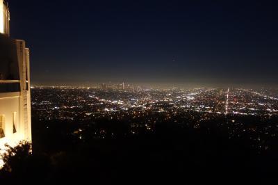初めてのロサンゼルス1日目:シェラトングランドのラウンジ、グリフィス天文台夜景ツアー