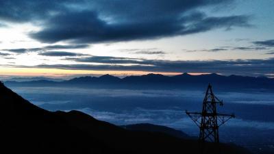 憧れていた千畳敷で朝を迎え今日は山を降りる日です;;