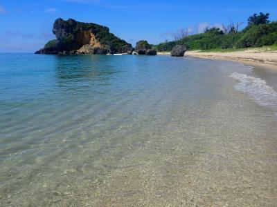 夏!!沖縄 浜比嘉島・アマミチューの墓、ムルク浜、兼久ビーチ。敷地島・ジャネー洞
