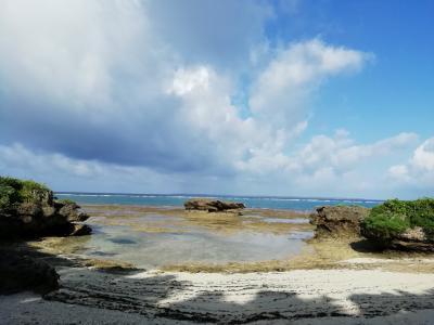お母さん おいしいごはんを作ってくれて ありがとう1500mプライベートビーチ♪パワースポット根性海岩2019年7月八重山・黒島8泊9日24