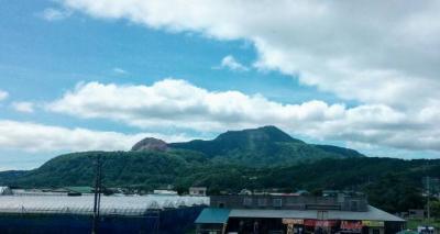 有珠山の噴火遺構を見学